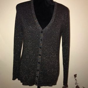 George V-Neck Buttoned Sweater Size L